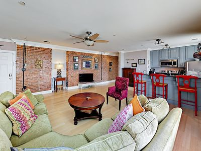 Photo for Downtown 3BR Condo: 2 Top-Floor Units in Historic Building w/ City Views