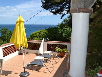 Photo for Between Monaco and St Jean Cap Ferrat, Eze edge of sea, 200 m from the beach apartment in house independent access stairs (60) is not suitable for people with disabilities