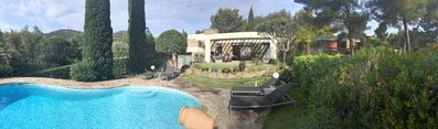 Photo for Beautiful house with pool near sea in private domain of Gaou-Bénat