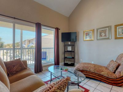 Photo for Waterfront condo fully furnished w/ a  private balcony & partial bay view