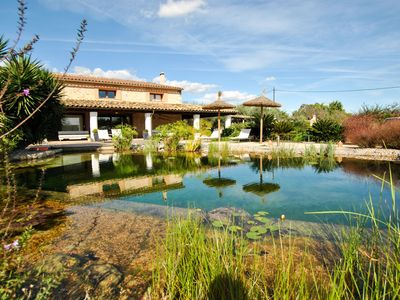 Photo for Tasteful holiday home in the style of Mallorca with ecological private pool.