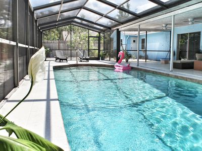 Photo for Private Pool! Grill! Boogie boards! Close to beaches in Palma Sola Bay
