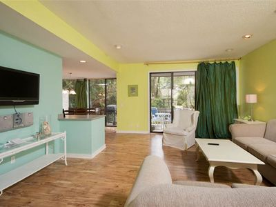 Photo for Spacious 4 Bedroom Townhouse in the Heart of Harbour Town with Pool View and Sauna Access