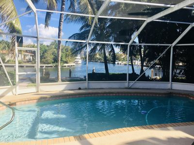 Photo for NEW: Waterfront Canal Pool Home with Mini-Beach in Golden Isles + 38ft Boat Dock