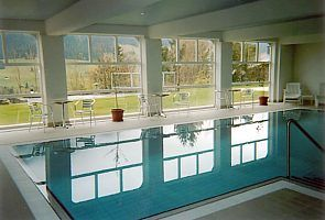 Warm indoor pool