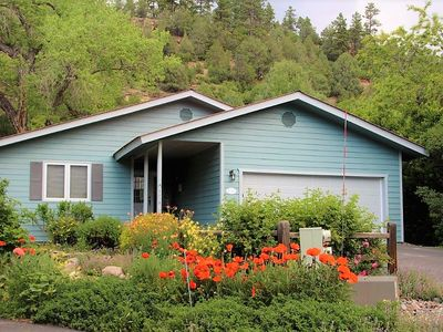 Photo for Charming Home Close to Downtown, Lovely Yard with Creek, Pet Friendly
