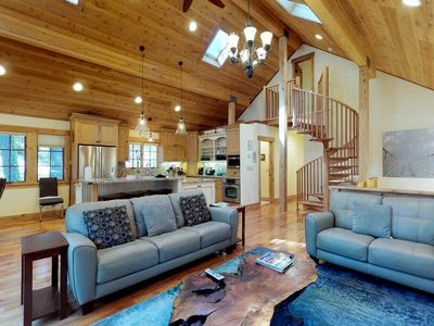 Photo for NEW LISTING! Gorgeous, airy home w/decks & Ping-Pong, walk to Commons Beach/golf