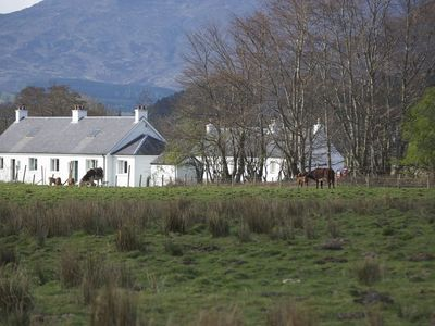View of Strathan Cottage from the field