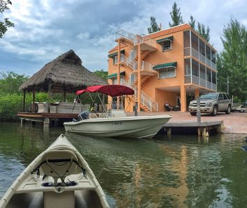 Photo for Home On A Canal With Boat Dockage,  Hot Tub, Game Room, Tiki Hut