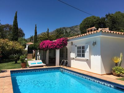 Photo for Villa with peace and privacy: heated pool, 10 min from beach, BBQ, free WIFI