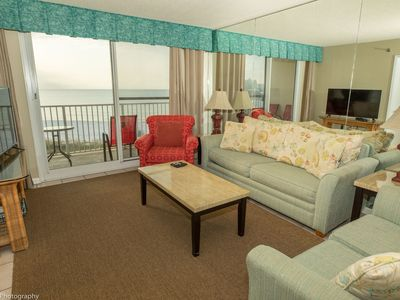 Photo for DOTG 602 is a Gulf front 2 BR with Beach Service set up