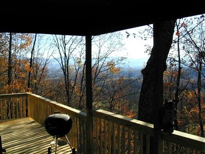 Photo for High up on Mtn - View & Hot Tub for an 'Altitude-Adjustment'