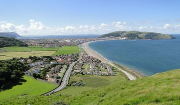 West Shore Beach, Llandudno, Pays de Galles, Royaume-Uni