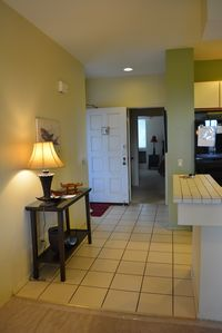 entry way and hall to bedroom 1  and bathroom