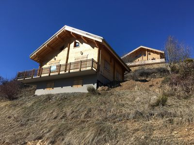Photo for Chalet 4 minutes from Valberg for 6/8 people