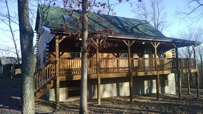 Front of the log home!