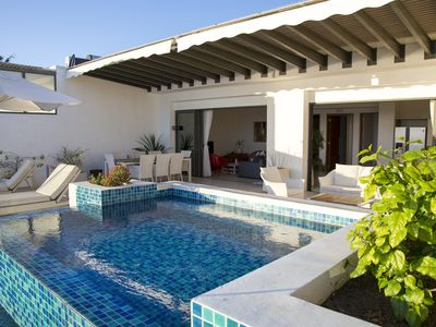 Photo for CAP WEST - Sunset Terrace - superb penthouse facing the lagoon