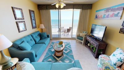 Photo for Gulf View Condo-Living & Master Bedroom Balconies-Clubhouse Amenities! Doral 905