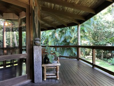 Photo for Tranquil Eco Friendly Earth House, perfect for unwinding amidst the rainforest