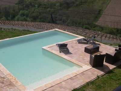 Photo for Villa with private swimming pool, heart of Beaujolais and with view on vineyard