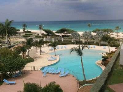 Photo for BEACHFRONT - EAGLE BEACH - OCEANIA RESORT -Glamour View 3BR condo - E422