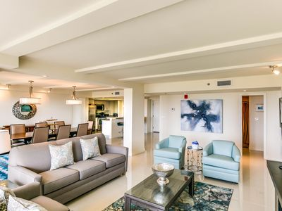 Photo for Dog-friendly condo w/ shared pools & hot tubs - walk to beach!