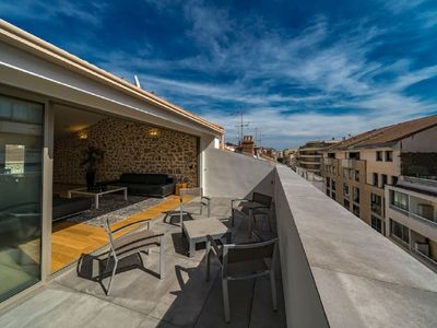 Photo for Luxury apartment 155m2 classified 5 * - Terrace, Clim - Located 113 Rue d'Antibes