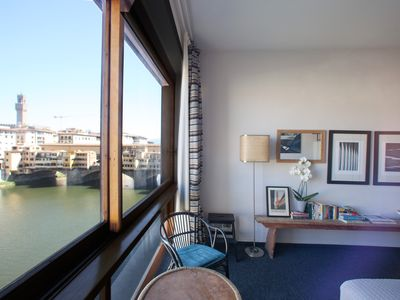 Photo for Stunning view of Ponte Vecchio, WI-FI, A/C, elevator
