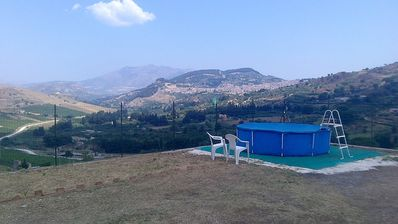 Photo for Unique quiet place, panoramic view over the Segesta hills, organic fruits