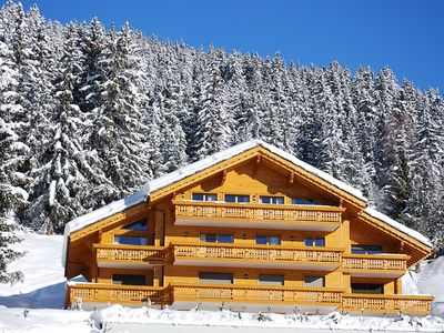 Photo for Lovely two bedroom apartment in Crans Montana close to ski lift