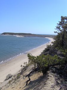 Drive, kayak, walk, or swim to this secluded Cape Cod National Seashore Beach.