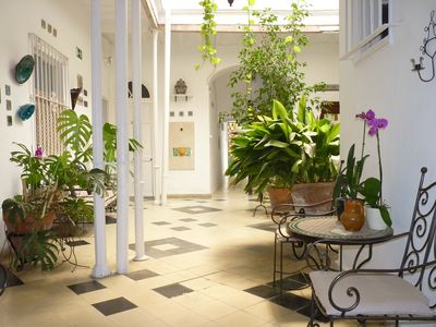 Photo for Group accommodation up to 23 persons, historical center Jerez, garden, terrace