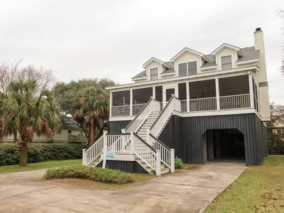 Photo for Spacious home just one block from the beach with impeccable porches