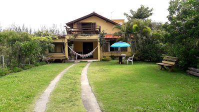 Photo for Comfortable house w / view to the sea w / wi-fi - Ibiraquera beach.