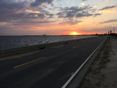 Sunset on the Sea Wall