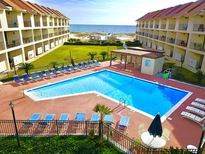 Photo for 2BR/2.5BA Luxury Directly on Beach w/pool and just 1/2 mile West of the Hangout!