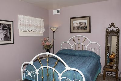 Master bedroom with very comfortable queen bed and quality linens.