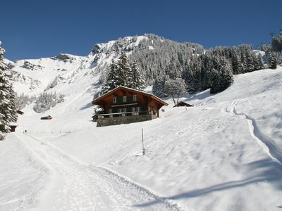 Photo for Family friendly, charming, traditional Swiss Alpine Chalet