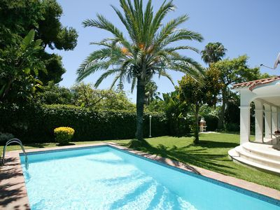 Photo for A Beautiful Villa with Private heated Swimming Pool and Jacuzzi, Close to Beach
