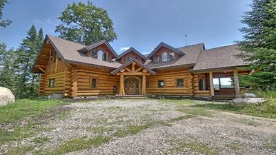 Magnificent Waterfront Log Chalet Mont St Marie Gracefield Download Free Architecture Designs Intelgarnamadebymaigaardcom