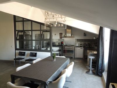 Photo for Stylish loft in the centre of Narbonne. View of the cathedral. Quality services