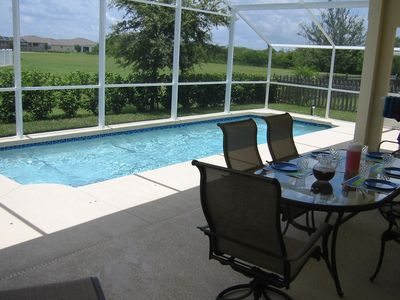 Pool with Large, Screened Patio