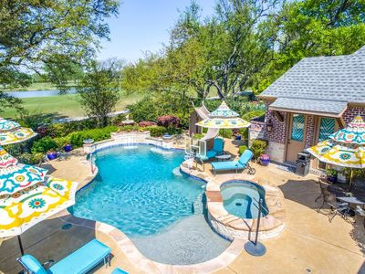 Photo for HEART of DALLAS ESTATE! POOL + HOT TUB! 18th HOLE ON THE GOLF COURSE! AMENITIES!
