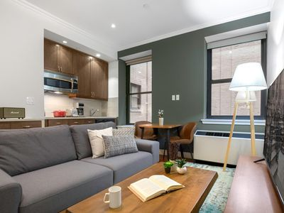 Photo for Cheery Midtown 1BR w/ Doorman + Gym, near MSG by Blueground