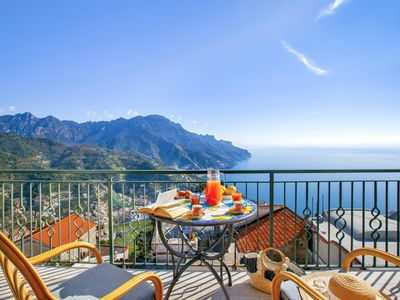 Photo for Residenza Rosalia with Sea View, Private Terraces and Air Conditioning