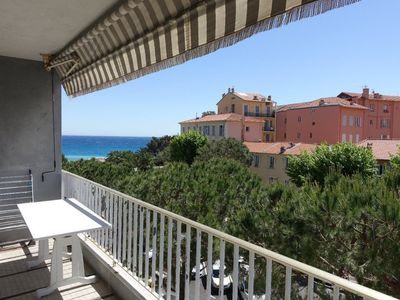 Photo for 3 ROOMS WITH TERRACE SIDE SEA VIEW - PARKING - MENTON CENTER - CLOSE BEACH