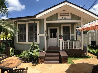 Photo for Casually Elegant Diamond Head Home Hot Springs Spa in Quiet Charming Location