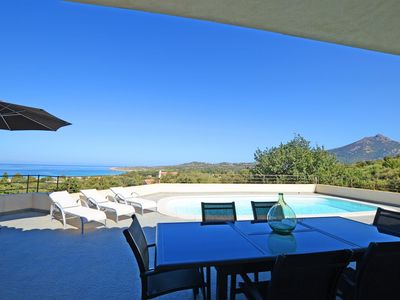 Photo for Contemporary villa, with clim-160 m2, swimming pool, 2 minutes from beaches & shops