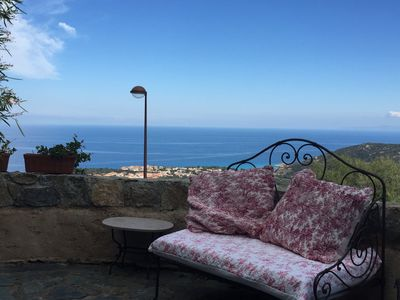 Photo for Village house - Monticello - panoramic sea view - terraces and garden