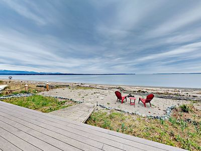 Photo for Beachfront 3BR on Bush Point w/ Ocean & Mountain Views, Large Deck
